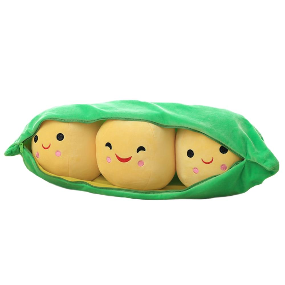 1pc 40cm kawaii 3 peas in a pod plush toy stuffed soft pp cotton baby plants dolls cute Pea-shaped toys for kids birthday gift 20pcs kawaii plants vs zombies stuffed plush toys games pvz soft doll toy