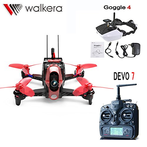 Walkera Rodeo 110 RTF RC Racing Drone 110mm Quadrocopter DEVO 7 TX With 5.8G 40CH Goggle4 FPV Glasses / 600TVL Camera F19846 original walkera devo f12e fpv 12ch rc transimitter 5 8g 32ch telemetry with lcd screen for walkera tali h500 muticopter drone