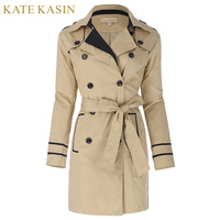 Kate Kasin 2017 Winter Slim Fit Cool Basic Bomber Jacket Women Khaki Down Jacket Coat Double
