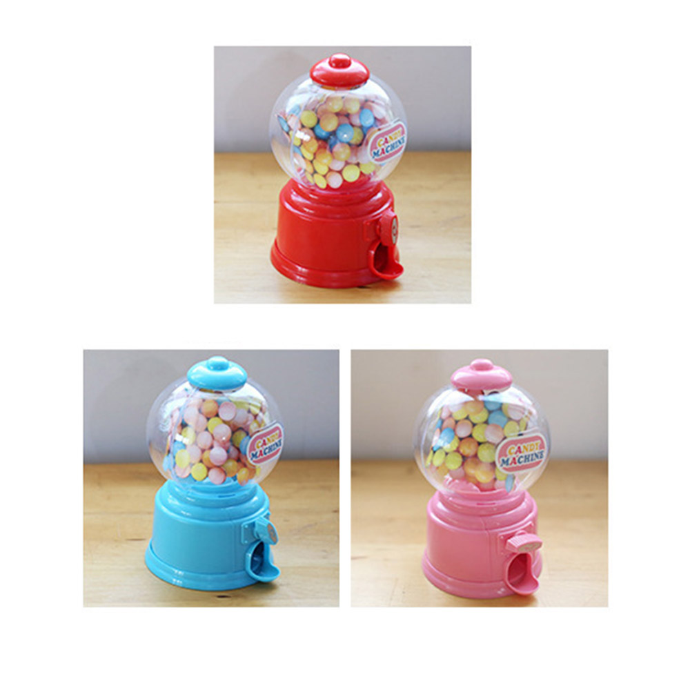 Creative Sweets Mini Candy Machine Bubble Gumball Dispenser Coin Bank Kids Toy Shopping Toys Gifts For Children Coin Bank Cans