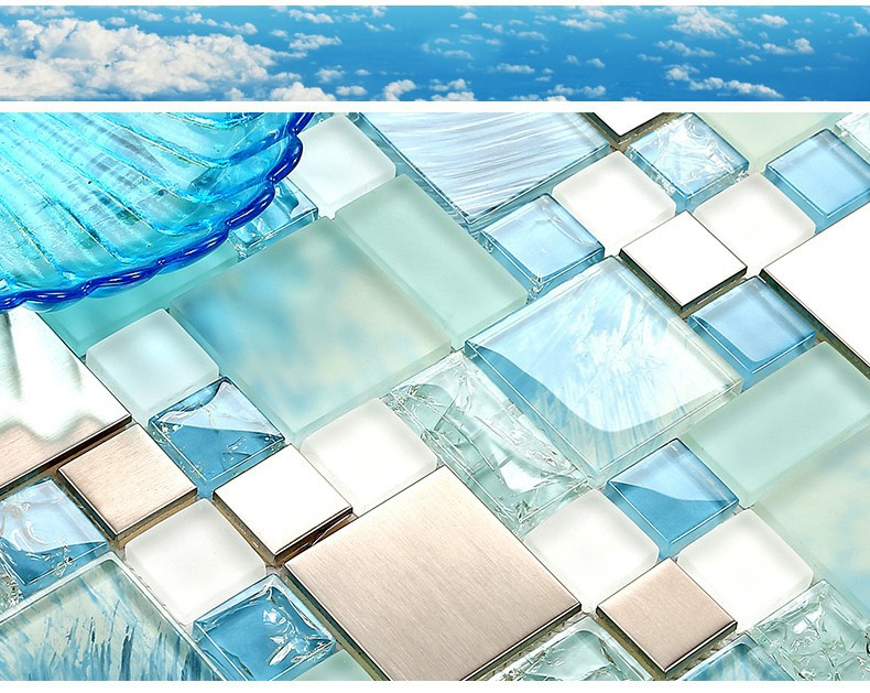 Sea Gl Kitchen Tiles Mirror Tile Backsplash Mosaic