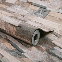 3D Modern Wood Stone Brick Wallpaper For Walls 3 D Luxury Classic Vintage Living Room Background
