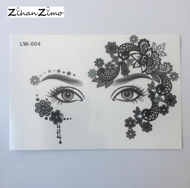 Waterproof Face Stickers Masquerade Party Decoration Eye Stickers