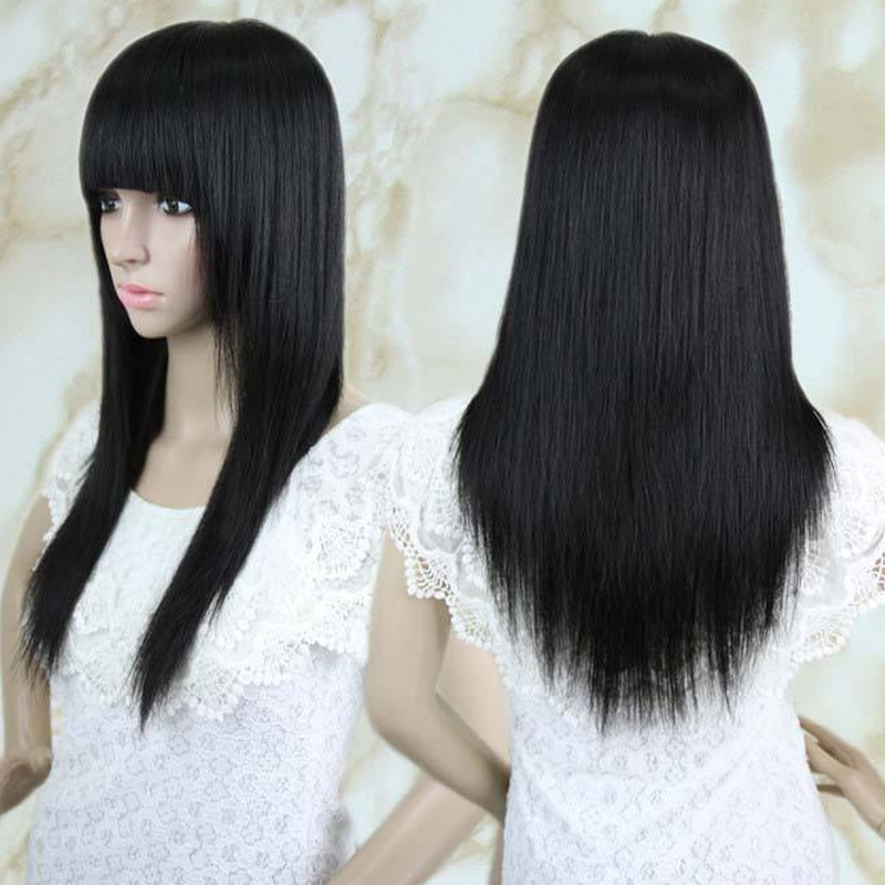 Neverland straight hair 24inch 1b black synthetic hair women neverland straight hair 24inch 1b black synthetic hair women natural hair extensions 125g 60cm long fake hairpiece extension in underwear from mother pmusecretfo Choice Image