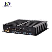 Kingdel Микро-промышленной PC Celeron 2955U/Core i5 4200U Dual LAN 6 * RS232 HDMI 300 М WIFI Мини PC Windows 10 Linux Ubuntu