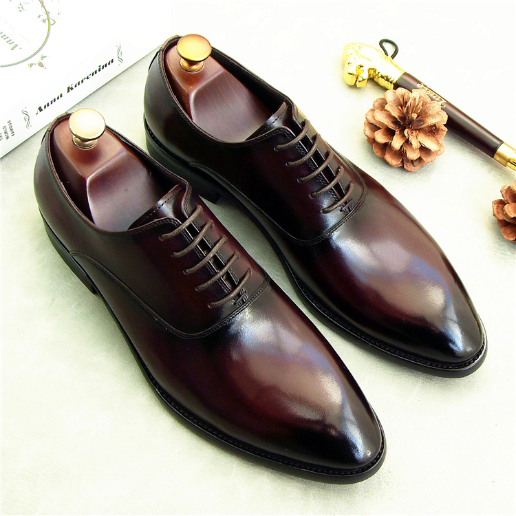 lace up men dress oxfords shoes 2018 italian leather formal shoes oxfords for male wedding party oxfords shoes runway sneakers men business dress shoes fashion lace up flats genuine leather formal office loafers party wedding oxfords shoes male walkerpeak