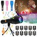 Светодиодный ручной фонарик-проектор  портативный Ландшафтный проектор  лампа  рождественские украшения  12 узоров с 8 видами музыки