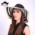 2017 New fashion women Beach hats for women summer straw hat beach cap sun hats for women Sexy vogue ladies large brim women hat