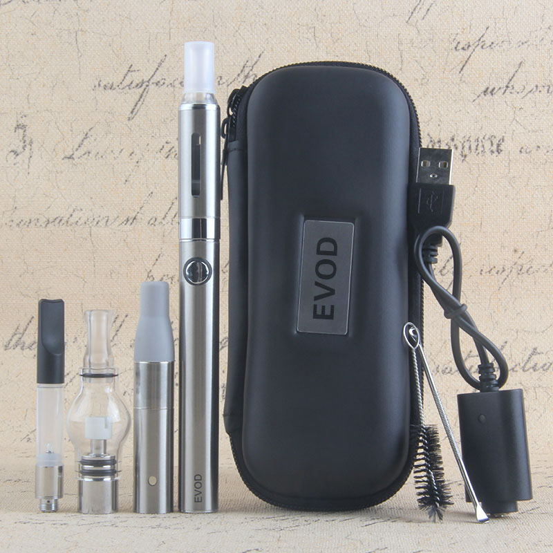 4 In 1 Dry Herb Vaporizer Evod Mini Vape Kit Dry Herbal Vaporizer Wax Vape Pen 650mah Battery MT3 CE3 Atomizer