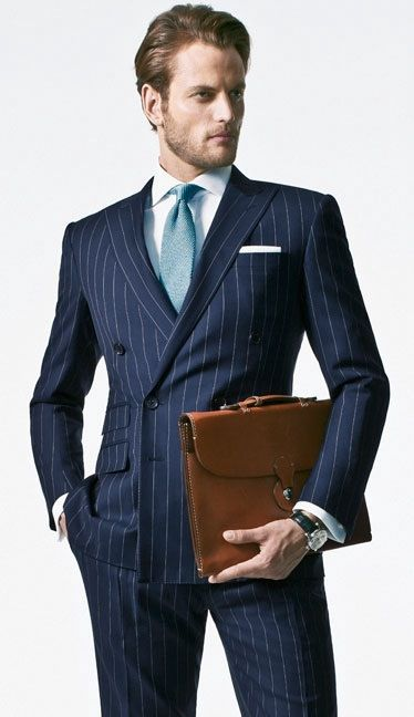 Mens Black Pinstripe Double Breasted Suit | My Dress Tip