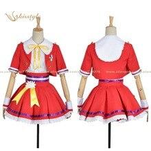 Kisstyle moda las chicas idolmaster cenicienta mio honda danza cos ropa cosplay traje de uniforme, modificado para requisitos particulares aceptado
