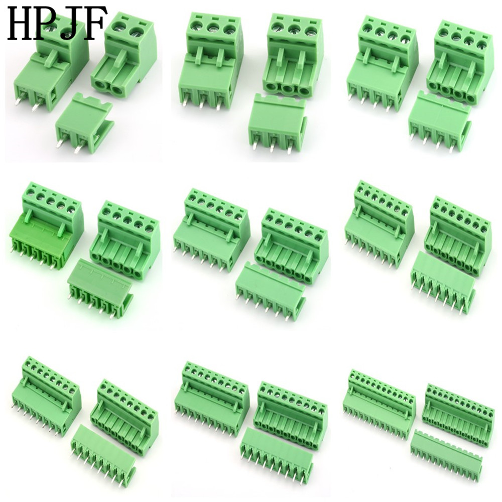 2EDG5.08 2/3/4/5/6/7/8/9/10/12Pin Straight Needle Terminal Plug Type 300V 15A 5.08mm Pitch Connector Pcb Screw Terminal Block 10 sets 5 08 3pin right angle terminal plug type 300v 10a 5 08mm pitch connector pcb screw terminal block free shipping