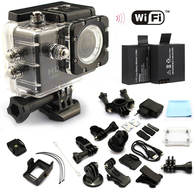 2 x battery sport action camera 1080p hd 12mp sj4000 wifi extreme