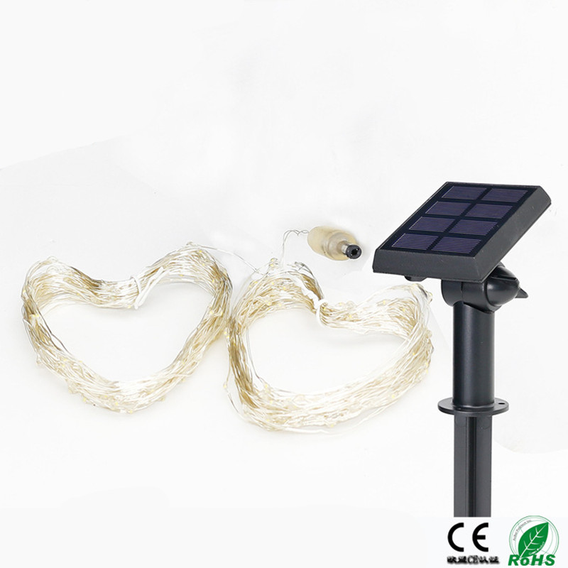 Festive Lighting Solar Warm White Rgb Copper Lights Lamps