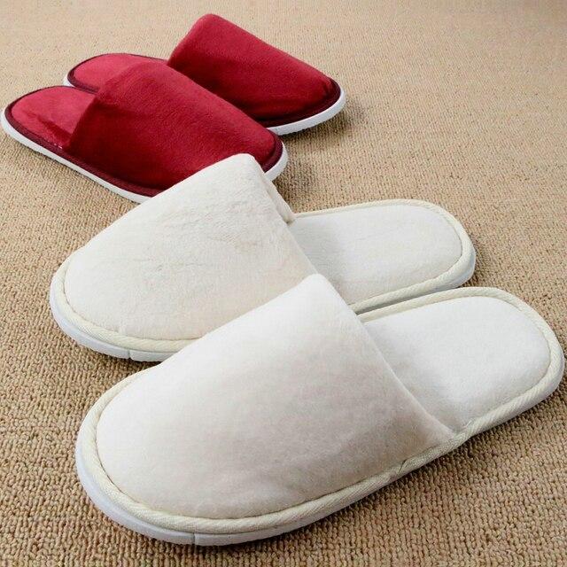 11be7613984 Home Shoe Winter Hotel Women Indoor Slippers For Men Travel Indoor Floor Bedroom  House Plush Pantufa Chinelos Homem Pantoufle