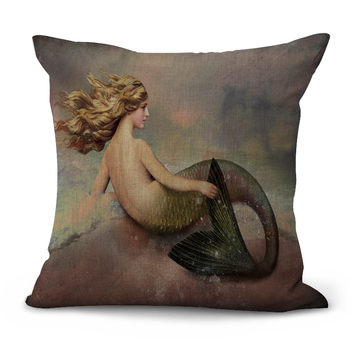 Blond Mermaid Cushion Cover 5