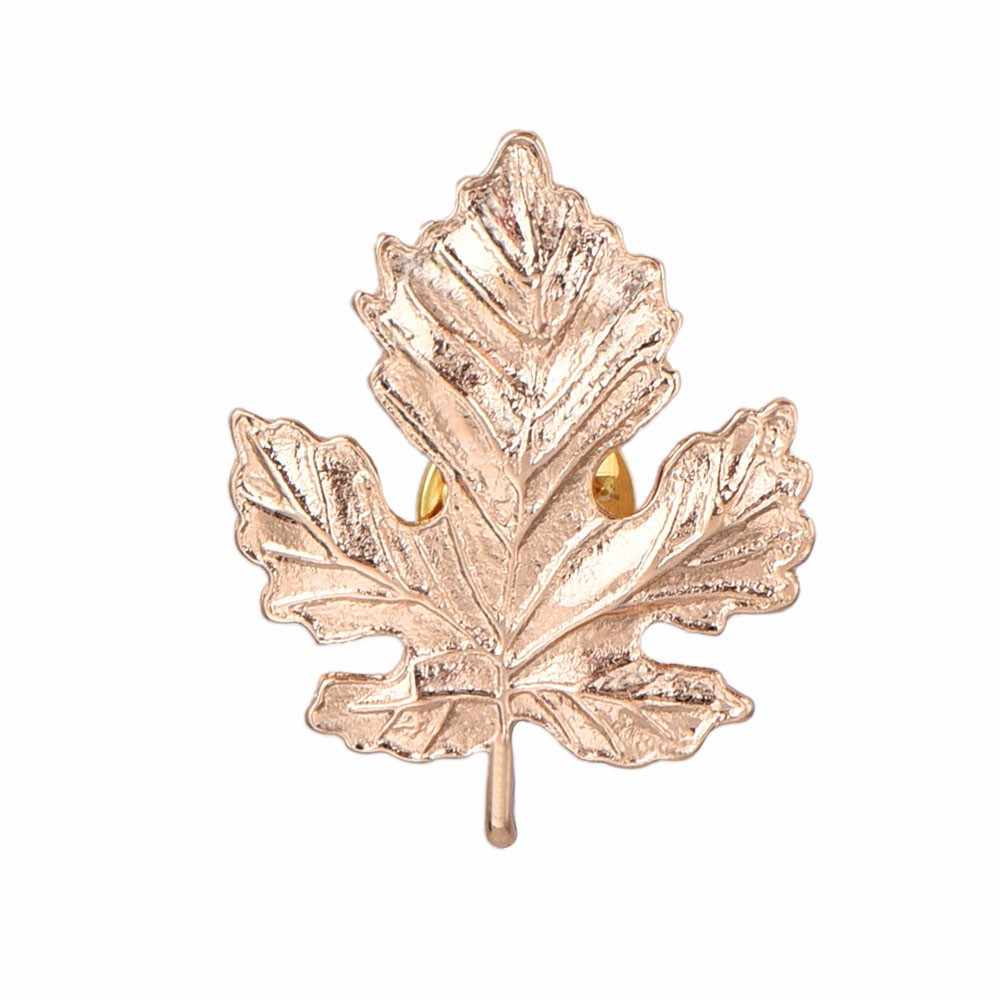 Bar Bergaya Korea Wanita Maple Daun Korsase Bros Kerah Pin Perhiasan Khusus Desain Struktur Yang Unik Populer Barang Cantik #13