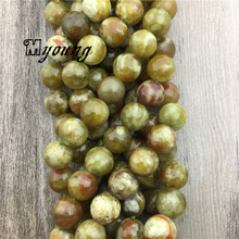 Smooth Round Green Dragon Blood Jaspers Stone Beads, Natural Strand High Quality Jewelry Making MY1575