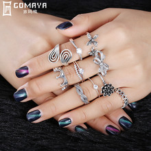 GOMAYA 925 Sterling Silver Vintage Ring for Women Girls Gift Fine Jewelry 10 Style A Wide Variety of Rings Party Accessories