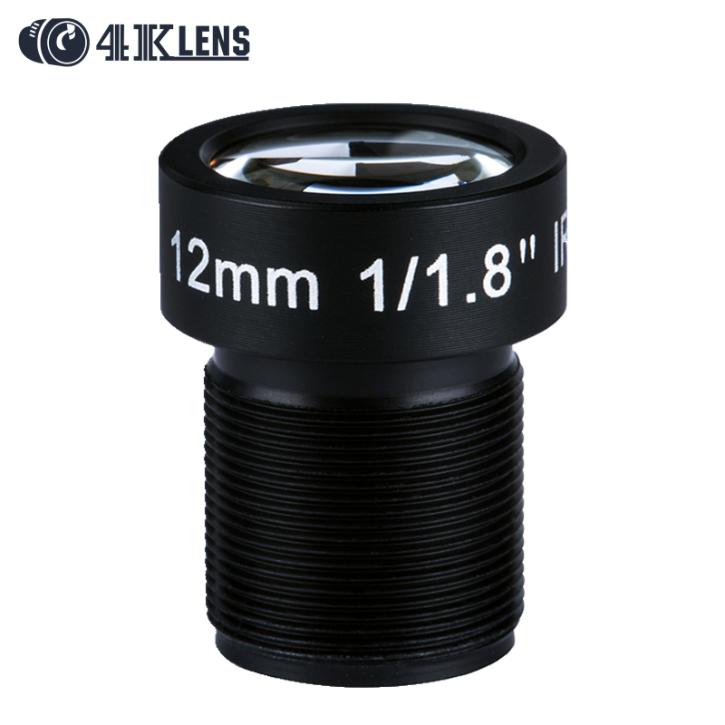 4K LENS 12MM Lens 1/1.8 Inch 10MP IR 34D HFOV Flat for Go pro Xiaomi Yi SJCAM Camera DJI Phantom Drones Mapping Hot