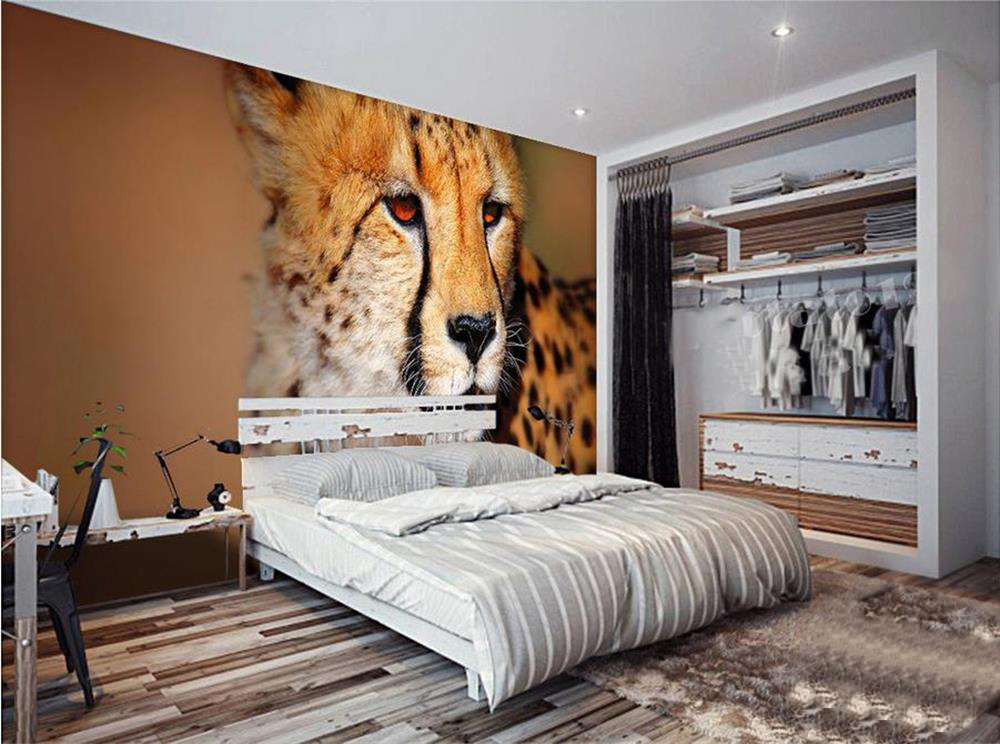 3d wallpaper custom photo wallpaper mural wild animal tiger 3d painting bedding room sofa TV background wall non-woven sticker