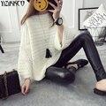 Suéter de las mujeres 2016 de La Moda de Invierno Suéteres Sueltos de Punto Suéteres O-cuello de la Alta Calidad Tire Femme Sweter Mujer SZQ046