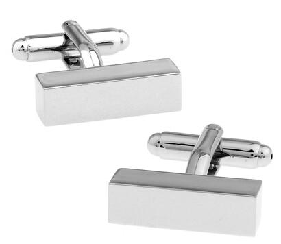 508416f1254 Homens Jóias Abotoaduras Engravable Atacado   varejo Cor Prata Cobre  Retângulo Projeto Melhor Presente Para Os Homens