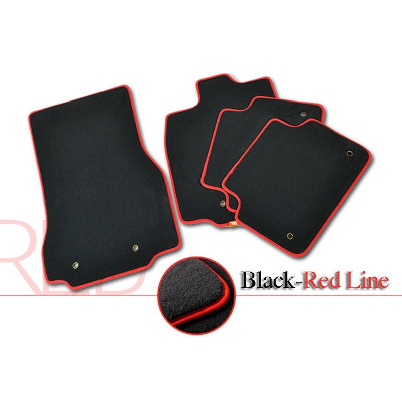 4pcs Premium Solid Nylon negro alfombras de piso del coche alfombra - Accesorios de interior de coche - foto 4