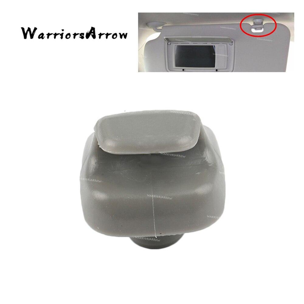 WarriorsArrow Sun Visor Sunvisor Hook Clip Retainer Holder Grey Gray For Honda Accord Civic CR-V Odyssey Pilot 88217-S04-003