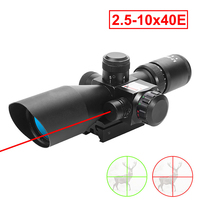 Hunting Riflescope 2.5 10x40E Red Green Illuminated Crosshair Reflex Sight Tactical Scopes Air Gun Electro Red Dot Sight