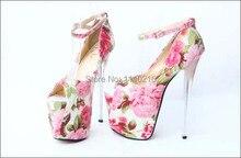 big size 35 43 new 2016 sexy sapatos peep toe salto alto font b women b