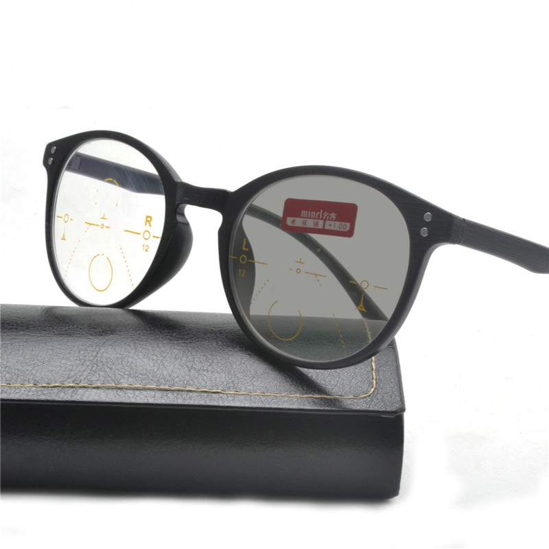 7823d3d1e05f High End Ultra Thin Acetate Reading Glasses Fashion Progressive Multi Focal  Lens Reader For Near And ...