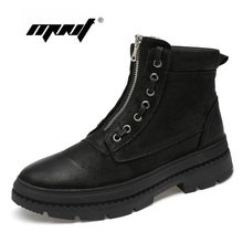 Super Warm Men Winter Shoes Natural Leather Waterproof Rubber Snow Boots Retro Style High Quality Shoes Men Ankle Boots super warm men boots two style high quality autumn and winter shoes handmade retro men shoes genuine leather snow boots shoes