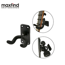 Maxfind Guitar Hanger Hook Holder Wall Mount Stand Rack Bracket Display Fits Guitar Bass Or Most guitar ukelele wall mount stand hanger rack hook wooden base bracket universal bass display compact easy to install