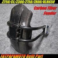 Для KAWASAKI Z250/CL Z300 Z750 Z800 KLR650 т Аксессуары для мотоциклов 100% углеродного волокна задний брызговик