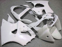 Injection Motorcycle road fairings for Kawasaki zx6r Ninja zx 6r 2000 2001 2002 00 01 02 all white xl130