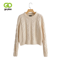 GOPLUS Women Sweaters Warm Pullover and Sweaters O neck Pullover Twist Pull Sweater Autumn 2019 Knitted Sweaters Christmas C6699