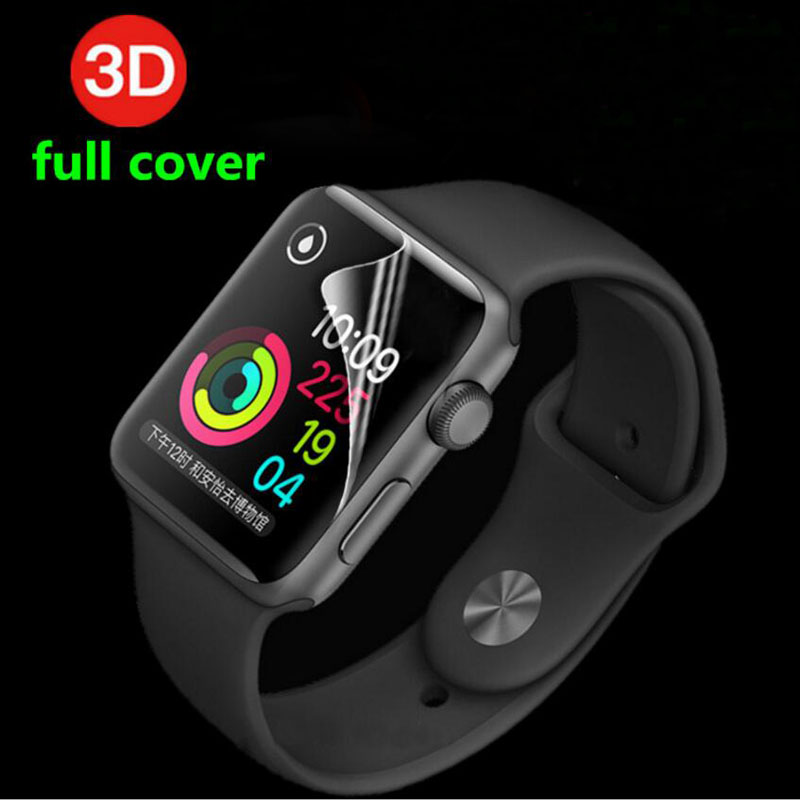3D Full Coverage TPU(Not Glass) Protective Film For iwatch Apple Watch Series 1/2/3/4 38mm 42mm 40mm 44mm Screen Protector Cover(China)