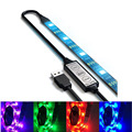 1m IP65 waterproof DC5V USB LED strip 5050 RGB Flexible Light TV LED strip Adhesive Tape 60LEDs/m
