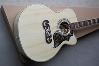 Free shipping Top quality Solid spruce Top J 185EC Acoustic Guitar natural wooden acoustic guitar .