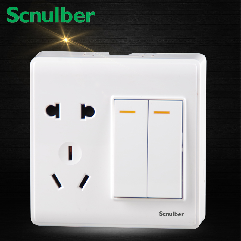 10a 250v Two 2 Gang Two 2 Way Elegant Light Wall Switch