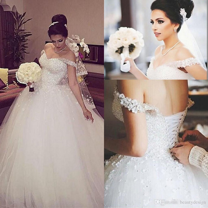 Buy new arabic bridal dresses glamorous for Wedding dresses with lace up back