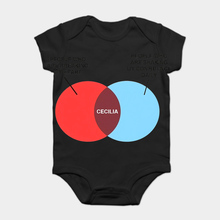 15cadee5c Baby Onesie Baby Bodysuits kid t shirt Fashion Cool Funny Cecilia Venn  Diagram Customized Printed(