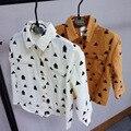 Babypalace оптовая продажа новые 2016 весной мальчиков дерево геометрия печать casaul рубашки
