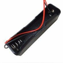 באיכות גבוהה שחור פלסטיק 18650 סוללה מקרה מחזיק תיבת אחסון עם חוט מוביל עבור 18650 סוללות 3.7V סיטונאי