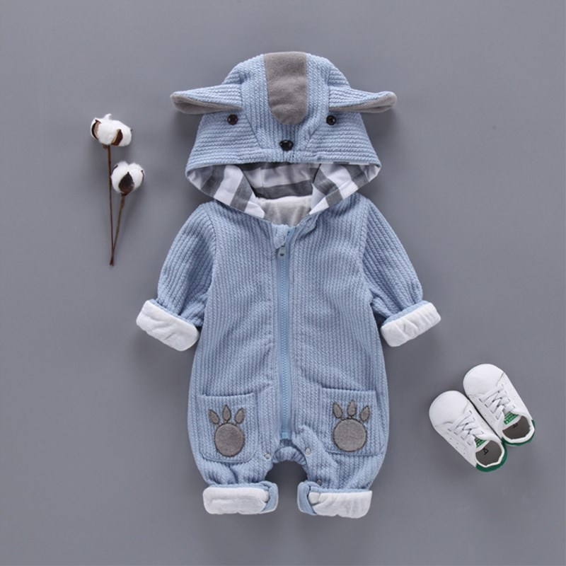 Autumn & Winter Newborn Infant Baby Clothes Fleece Jumpsuit Boys   Romper   Hooded Jumpsuit koala Baby Bebe Menino Macacao