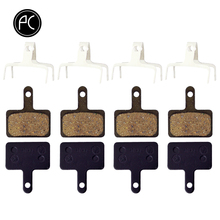 PCycling Bicycle Resin Disc Brake Pads 4 Pairs For Shimano M375 M395 M416 M445 M446 M485 M486 M515 M525 Tektro Orion Auriga Pro