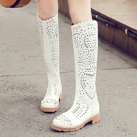 WENDY 2017 Summer boots for girls Flat with high tube breathable summer sandals boots cool boots Hollow children shoes свитшот унисекс хлопковый printio бренд вещи поле спокойствия