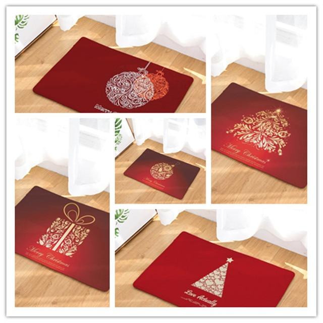 De no l rouge g om trique motif tapis antid rapant cuisine tapis pour la maison salon tapis de for Tapis pour cuisine original