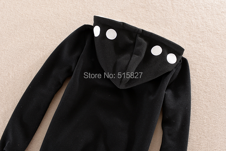 New Design Black Kagero Shikano urban performers Kazuya Kano Cosplay hoodie fleece thick sweater with zipper costume Instock